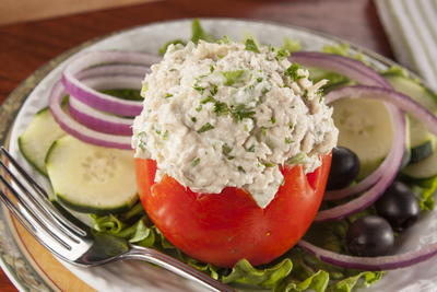 EDR Tuna Stuffed Tomatoes