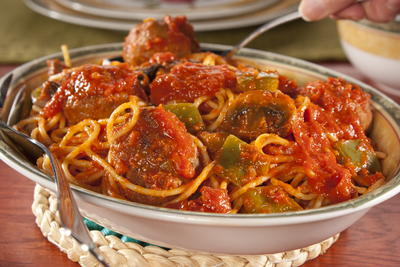 EDR Turkey Meatballs with Spaghetti