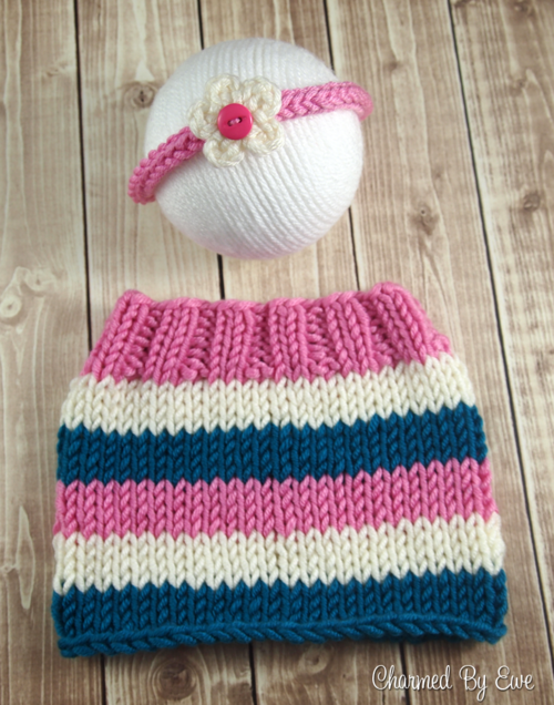Precious Newborn Striped Skirt