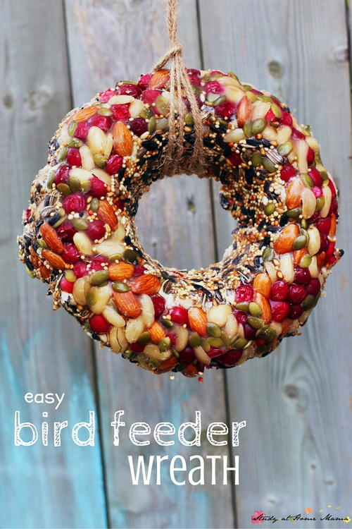 Bird Feeder Wreath