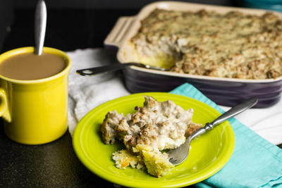 Biscuits and Sausage Breakfast Casserole
