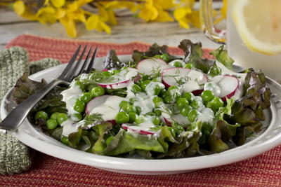 Rustic Pea and Radish Salad