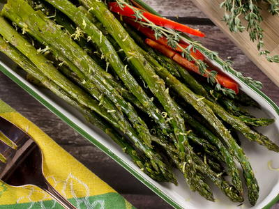 Roasted Asparagus with Lemon Kiss