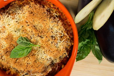 Not-Your-Mama's Eggplant Parmesan