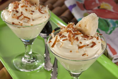 Tropical Coconut Banana Pudding