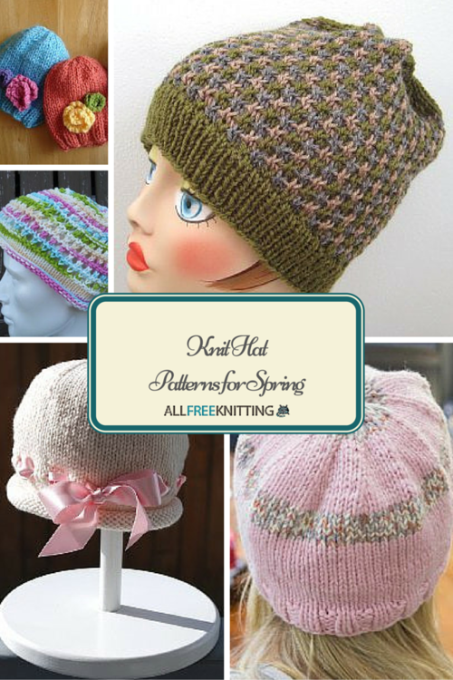 Free Knit Hats Patterns Allfreeknitting Com