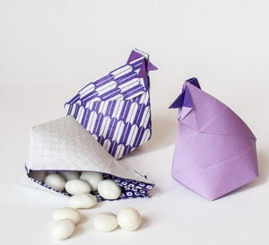 Clucking Chicken Origami Box