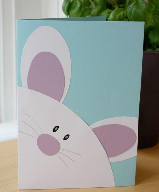 Eager Easter Bunny Card