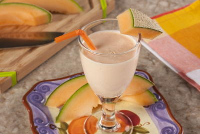 EDR Cantaloupe Yogurt Smoothie