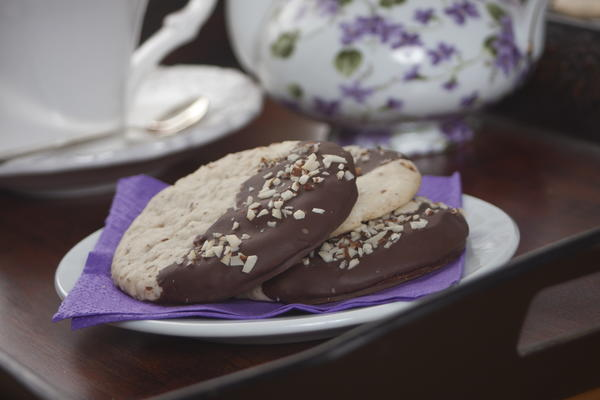 Chocolate Dipped Almond Cookies