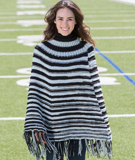 Game Day Knit Poncho