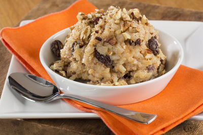 Spiced Bourbon Pecan Rice Pudding