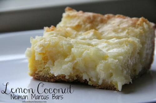 Lemon Coconut Cake Mix Bars