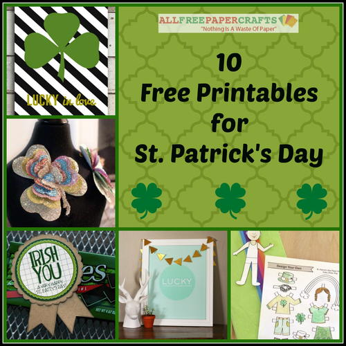 10 Free Printables for St. Patrick's Day