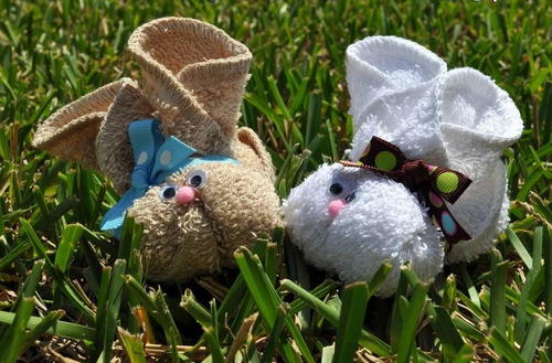 How to Make a Washcloth Bunny