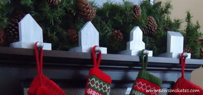 Scrap Wood West Elm Inspired Stocking Holders