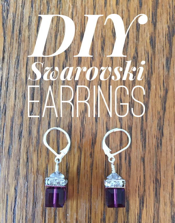 DIY Swarovski Cube Earrings
