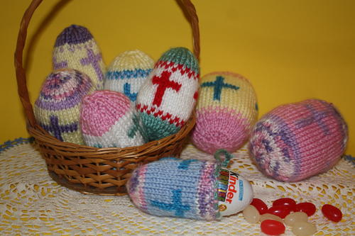 Cross Motif Easter Eggs