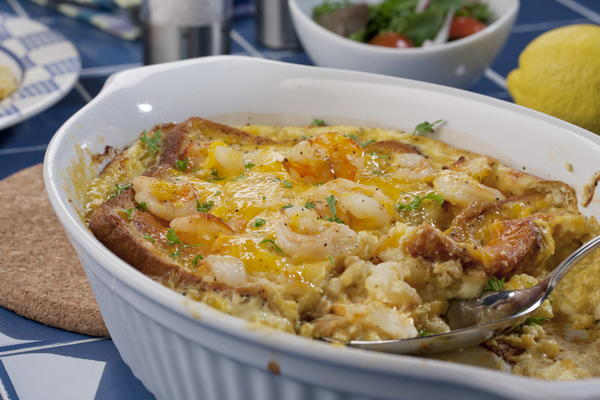 Shrimp and Cheddar Bake
