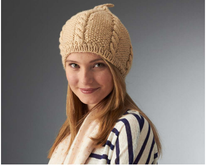 Chic Cabled Beret
