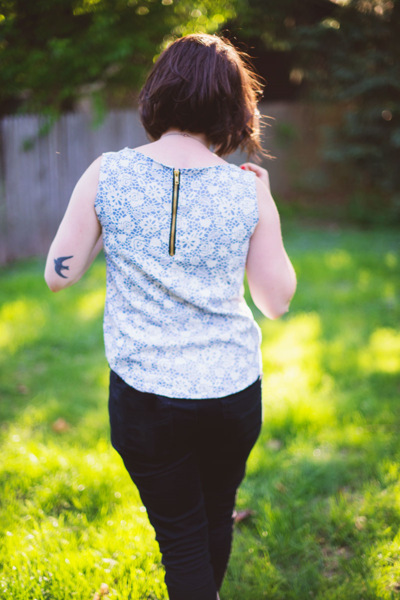 Zipper Back Top Sewing Pattern