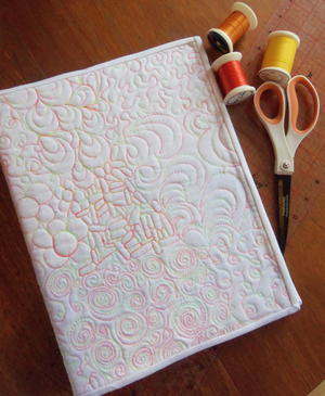 Swirly Binder Cover Sewing Pattern
