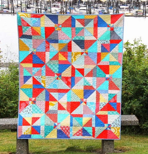 Super Easy Summer Slice Quilt Pattern