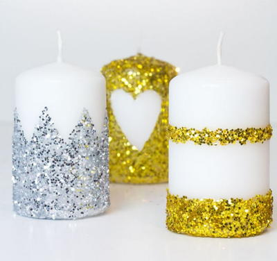 How to Make Glitter Candles
