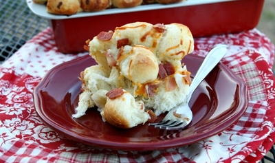 Bacon Ranch Cheesy Bread