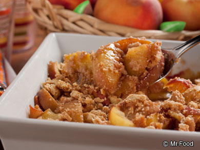 Summers Best Peach Crumble