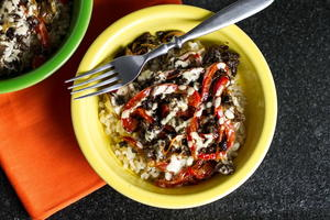 Philly Cheesesteak Rice Bowl