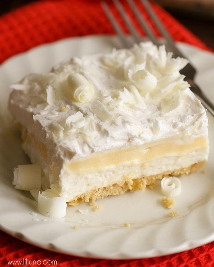 No Bake White Chocolate Lasagna Thebestdessertrecipes Com