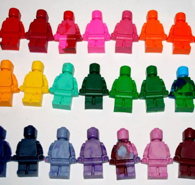 How to Make Lego Shaped Crayons