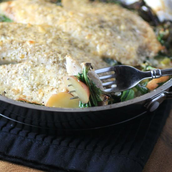 One pan tilapia dinner for Prime fish brunch