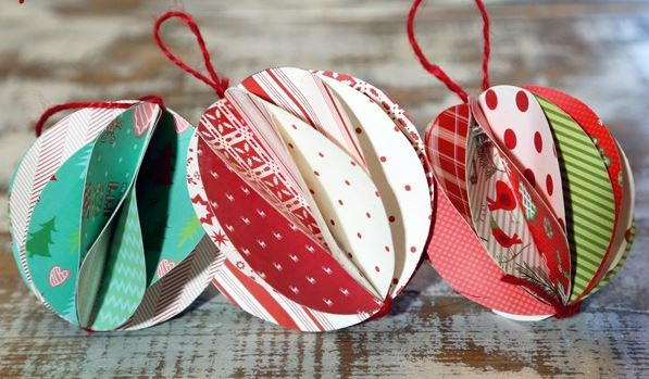 Decorative Paper Ball Ornament Allfreechristmascrafts Com