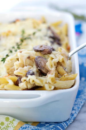 Simple Chicken and Mushroom Casserole