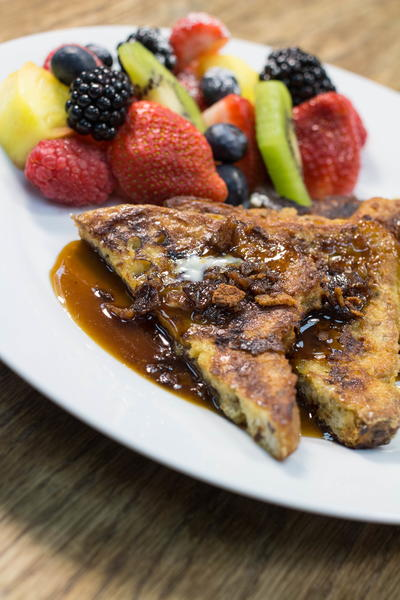 Perfect Gluten Free French Toast with Bacon Infused Syrup