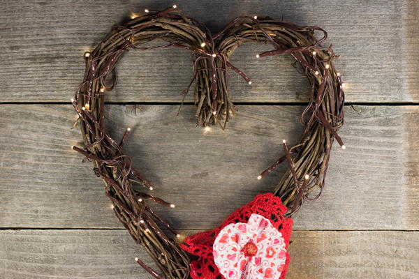 Quick Valentine's Day Wreath