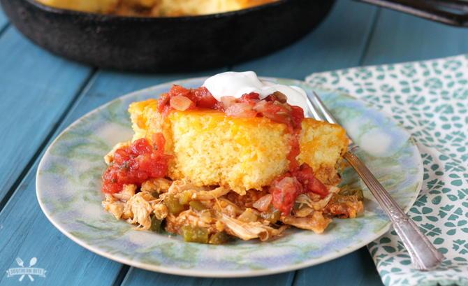 Southern Chicken Tamale Cornbread Casserole | FaveSouthernRecipes.com