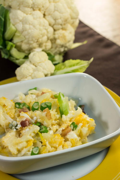 Low-Carb Loaded Cauliflower Casserole