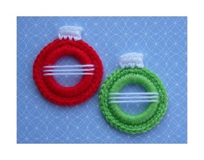 Crochet Christmas Ball Ring Ornament