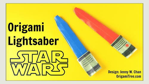 Origami Star Wars Lightsaber