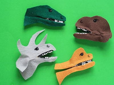 Adorable Clothespin Dinosaurs