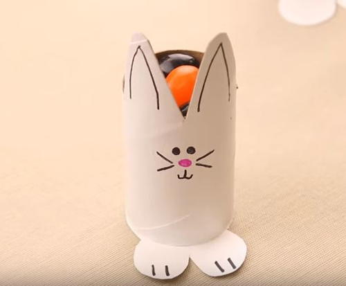 Toilet Paper Roll Easter Bunny Candy Holder