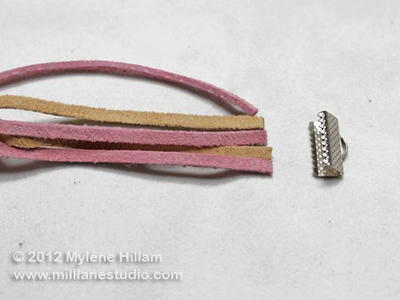 Neat Finishes for Leather Bracelet Ends
