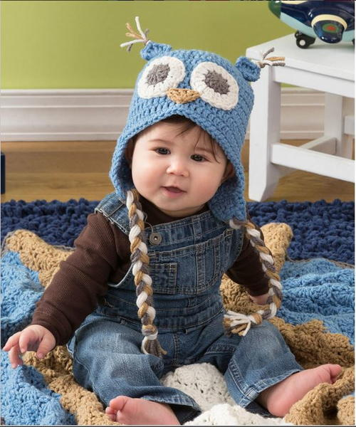 Adorable Owl Crochet Baby Hat Allfreecrochetcom