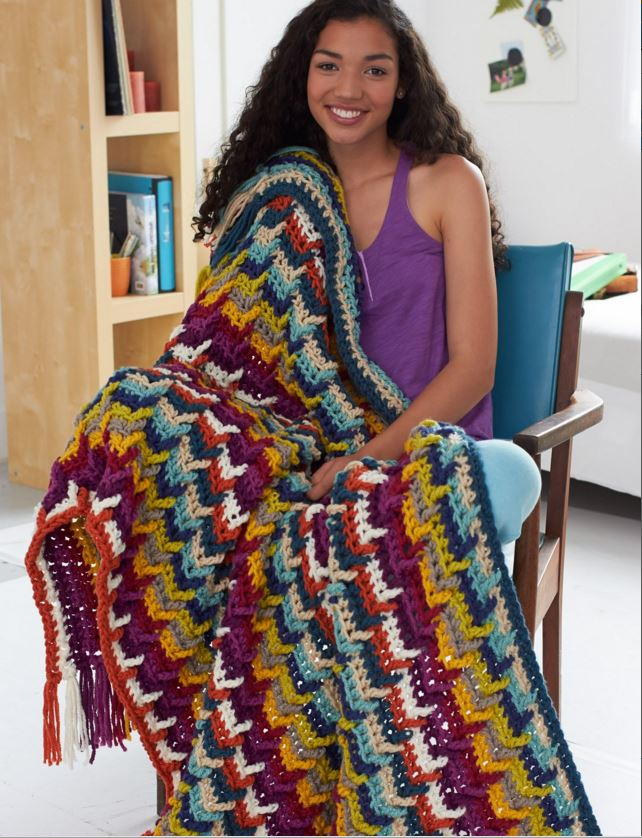 Color Lovers Crochet Afghan Allfreecrochet Com