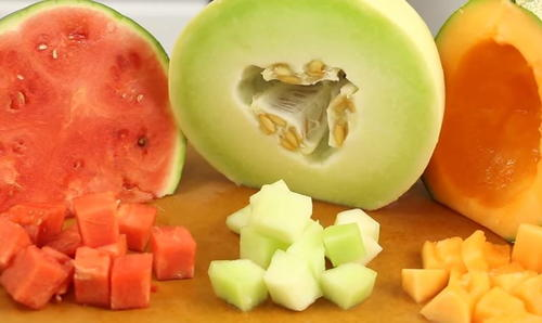 How to Cut a Watermelon Cantaloupe and Honeydew