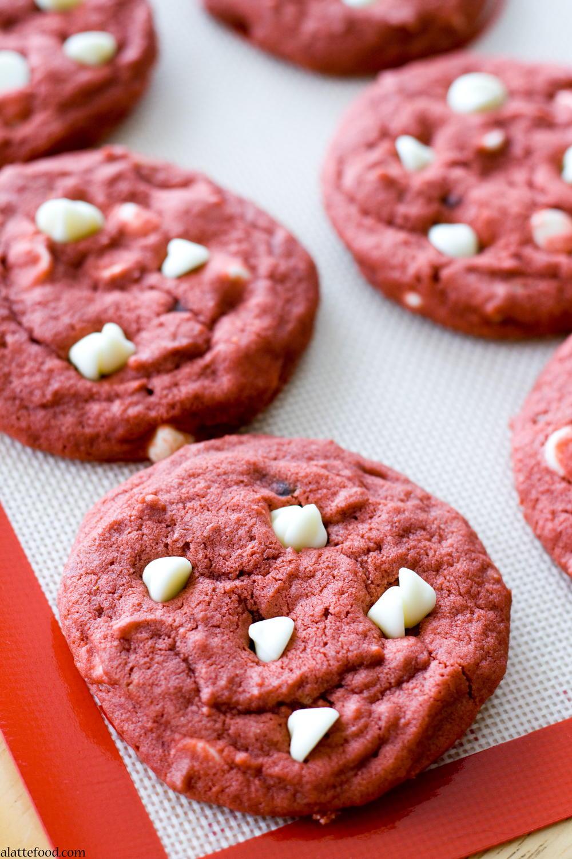 Red Velvet White Chocolate Chip Cookie Recipe