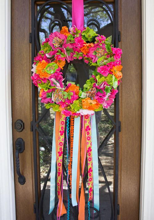 Colorful Fiesta DIY Wreath